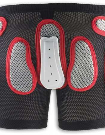 Side Protection Ergonomic Design for Free Movements / Size: L / Color: Black with Red