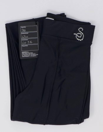 SAGESTER - Hand-made in Italy / Pants for Figure Skating, Ice Skating, Roller Skating / for MEN / Sewing at sight, in front and on the back with stirups / Style: 430 / Size: 36 / Color: Black