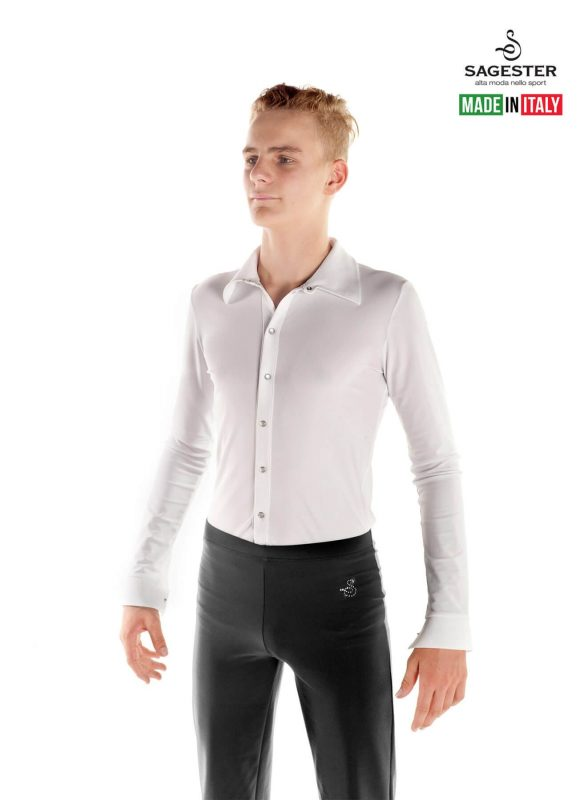 SAGESTER - Hand-made in Italy / Pants for Figure Skating, Ice Skating, Roller Skating / for MEN / Belt and Straps on the Bottom / Thermal Fabric / Style: 440 / Size: 36 / Color: Grey (Fabric: Thermal)